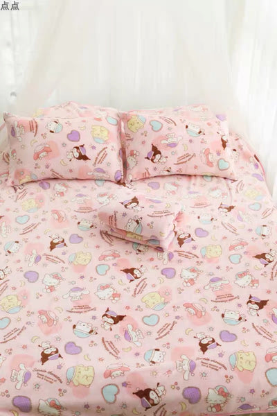 Cute Printed Blanket & Pillow Case