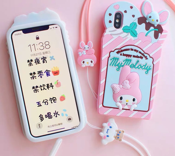 Ice Cream Phone Case For Iphone7/7P/8/8plus/X/XS/XR/XSmax/11/11pro/11pro max