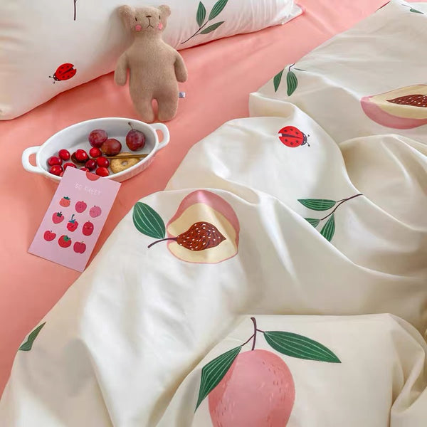 Sunshine Peach Bedding Set