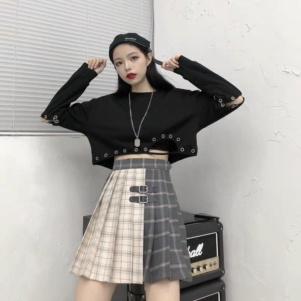 Fashion Stitching Crash Skirt