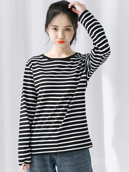 Harajuku Stripes Long Sleeves Shirt