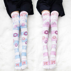 Kawaii Kitty Printed Socks