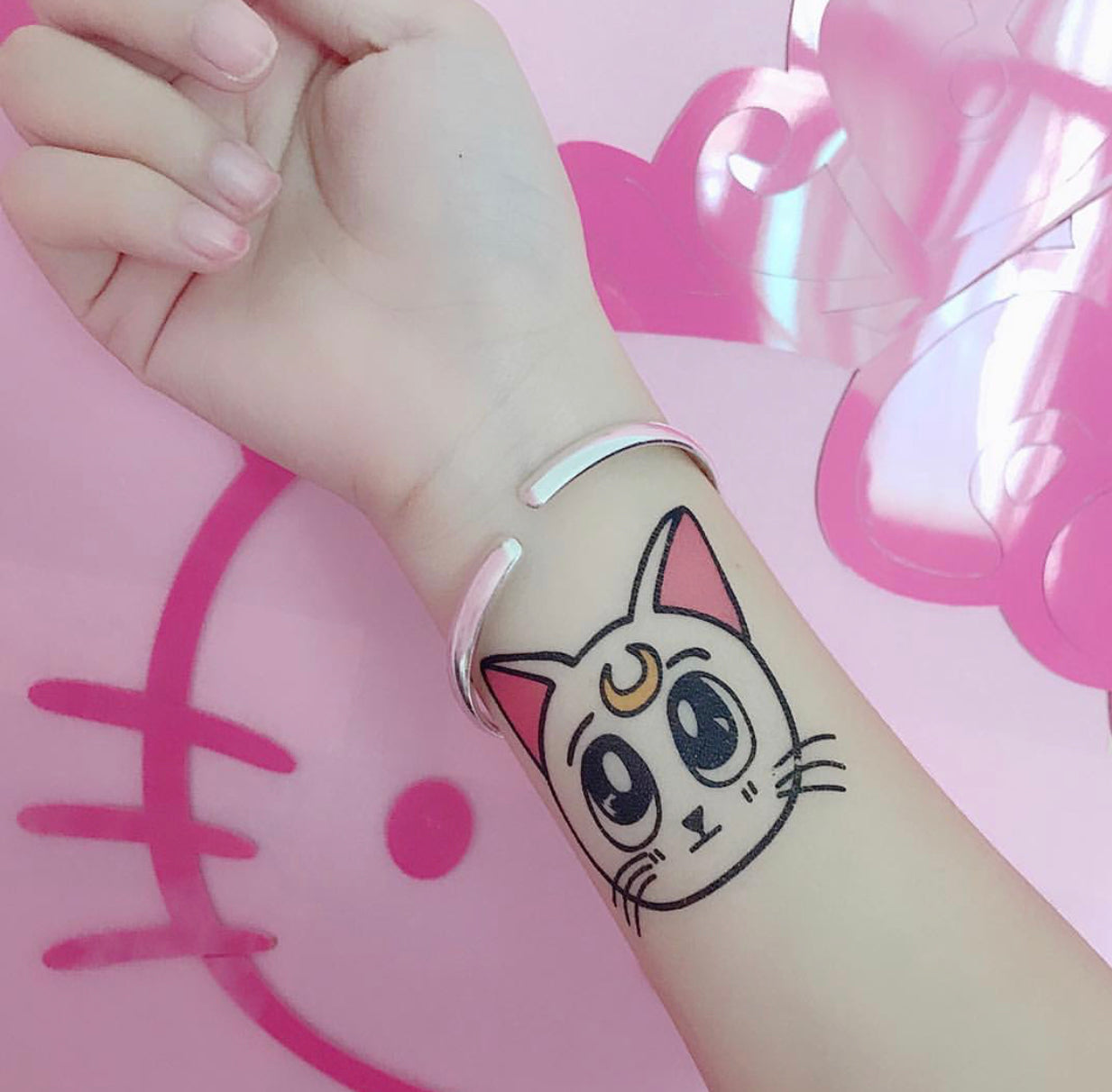 Sailor Cat Tattoo Sticker