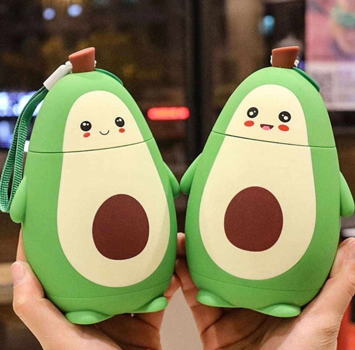 Kawaii Avocado Drinking Bottle