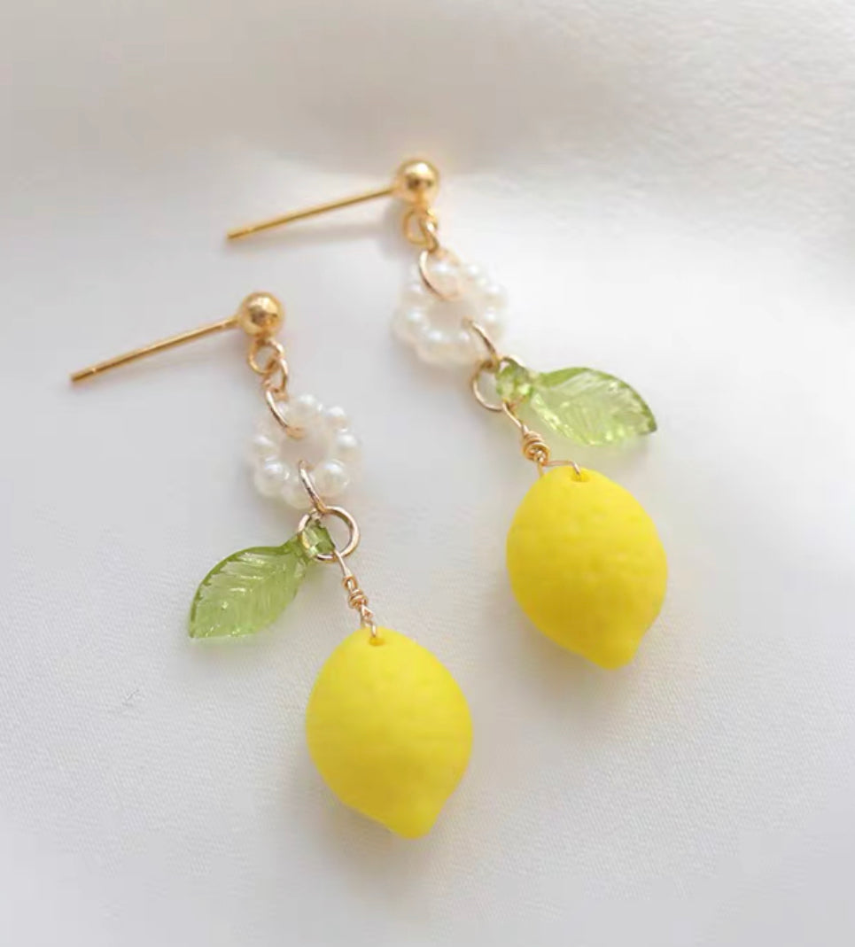Kawaii Lemon Earrings