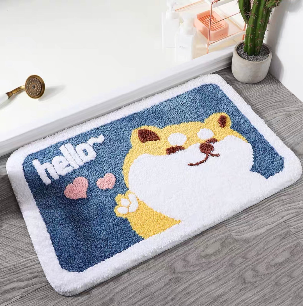 Hello Dog Floor Mat