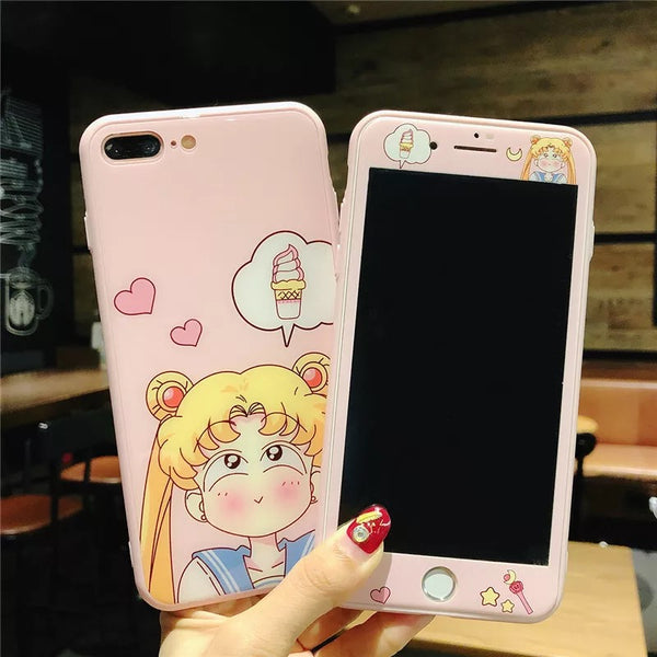 Kawaii Girl Phone Case For Iphone6/6S/6P/7/7P/8/8plus/X/XS/XR/XSmax