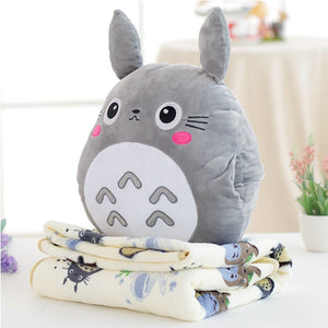 Kawaii Totoro Pillow & Blanket