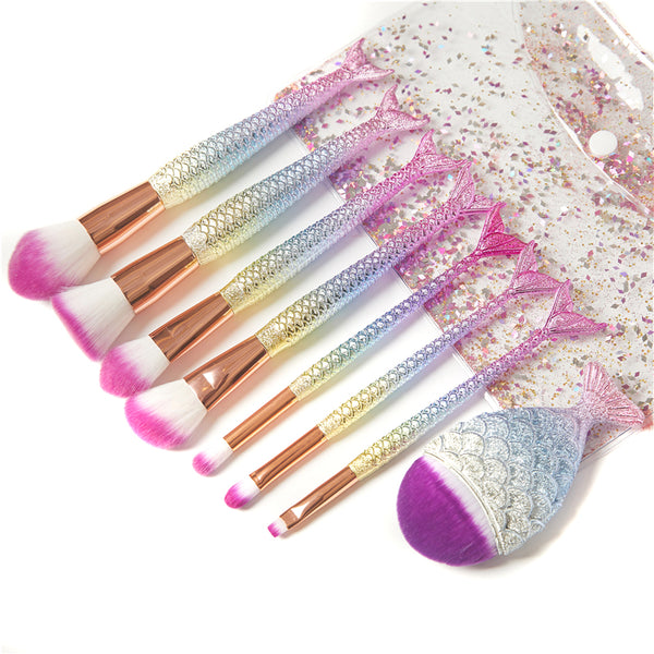 Cute Mermaid Makeup Brush Suit
