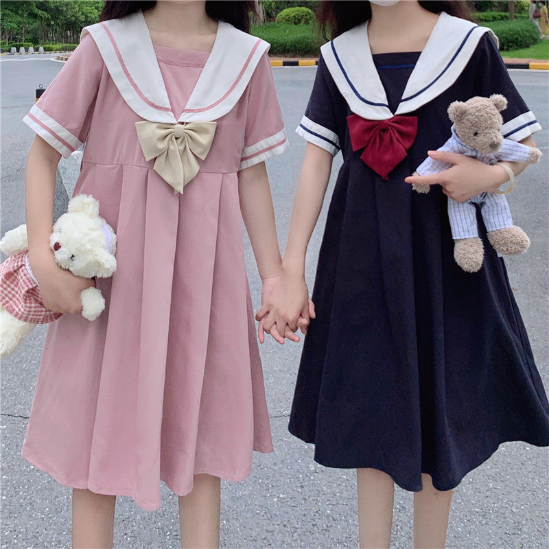 Cute Sailor Bowknot Dress