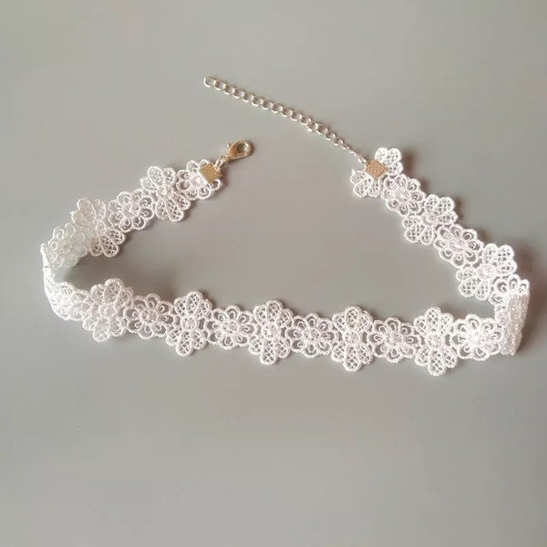 Hollow Out Flower  Choker