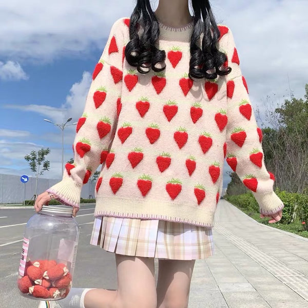 Sweet Strawberry Sweater