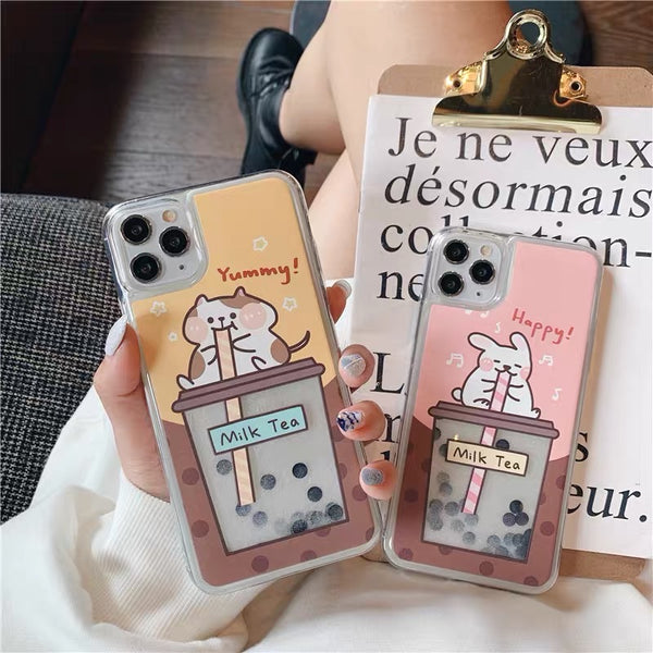 Kawaii Boba Phone Case For Iphone7/7P/8/8plus/X/XS/XR/XSmax/11/11pro/11proMAX
