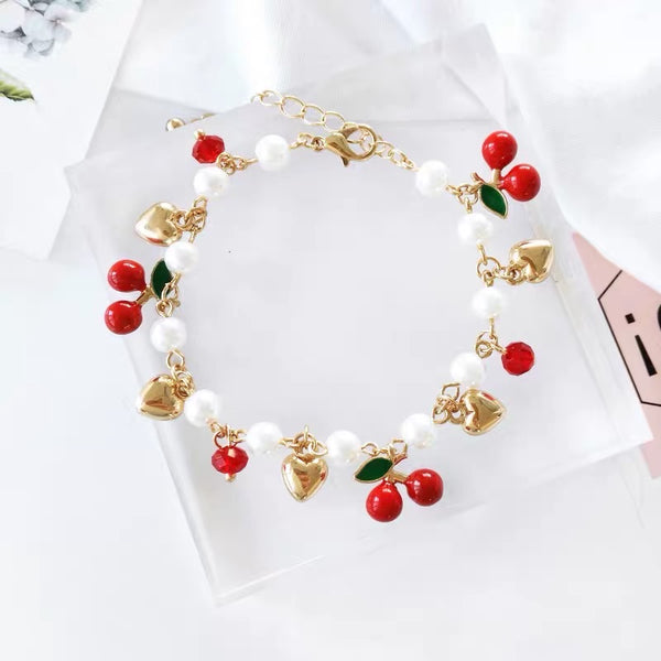 Kawaii Cherry Bracelet