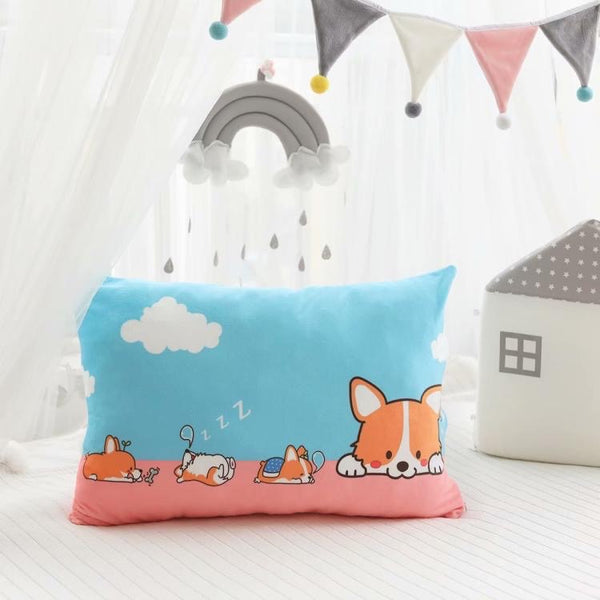Kawaii Corgi Pillow Case