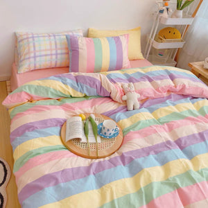 Pastel Rainbow Bedding Set