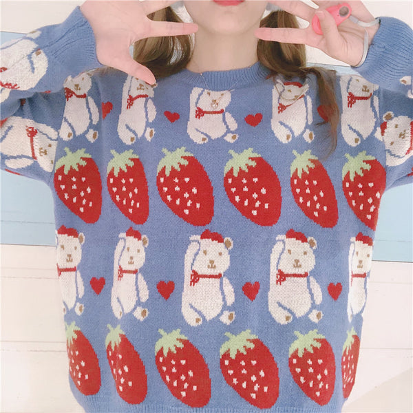 Strawberry Bear Sweater