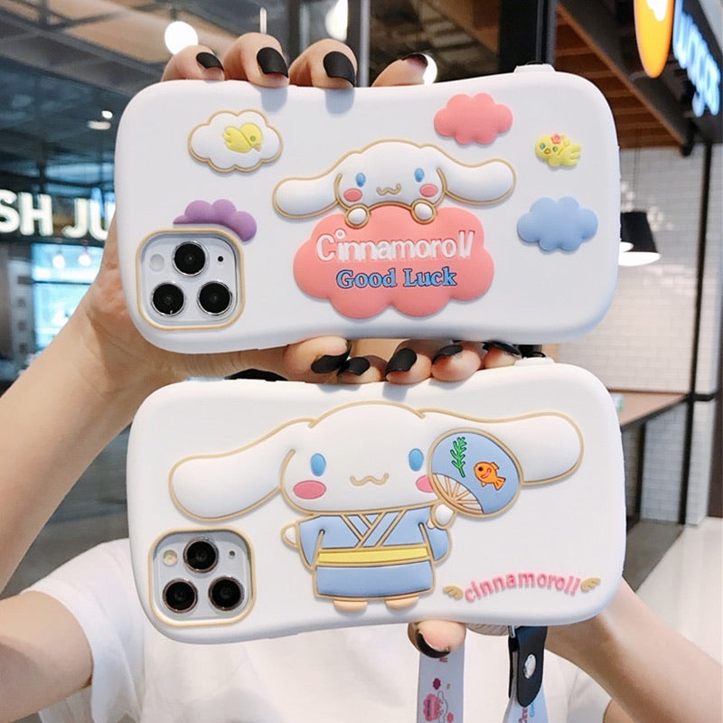 Cinnamoroll Phone Case For Iphone6/6s/6p/7/8/7/8plus/X/XS/XR/XSmax/11/11pro/11proMax/SE