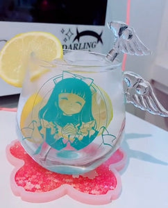 Sakura Glass Milk Cup