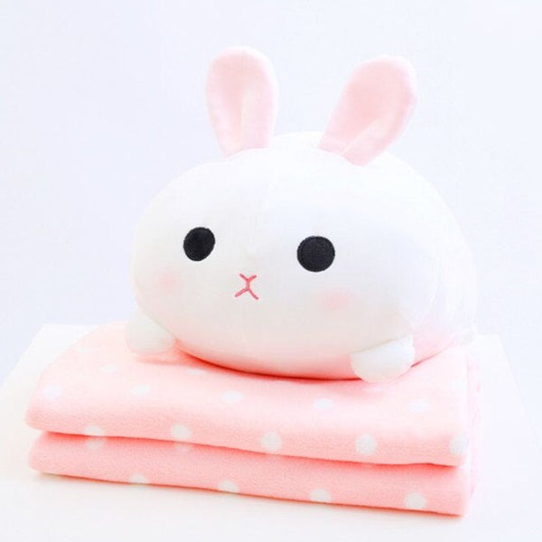 Kawaii Rabbit Pillow & Blanket