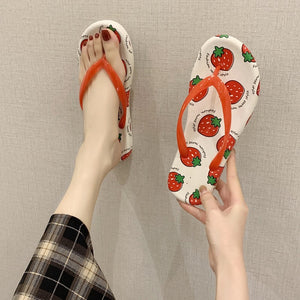 Fruit Printed Slippers