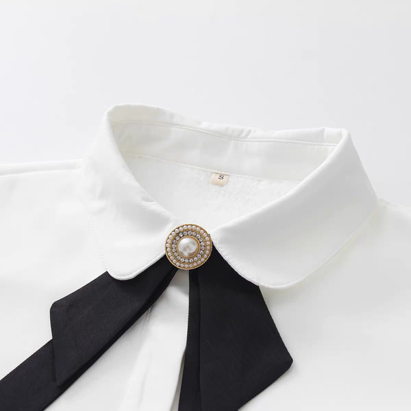 Preppy Style Bowknot Shirt