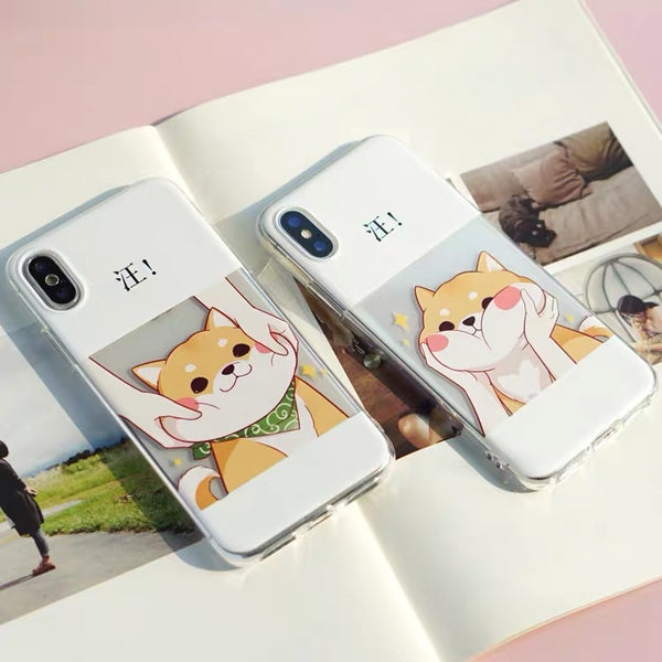 Cute Dog Phone Case For Iphone7/8/7/8plus/X/XS/XR/XSmax/11/11pro/11pro max