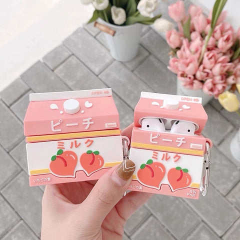 Peach Airpods Protector Case For Iphone