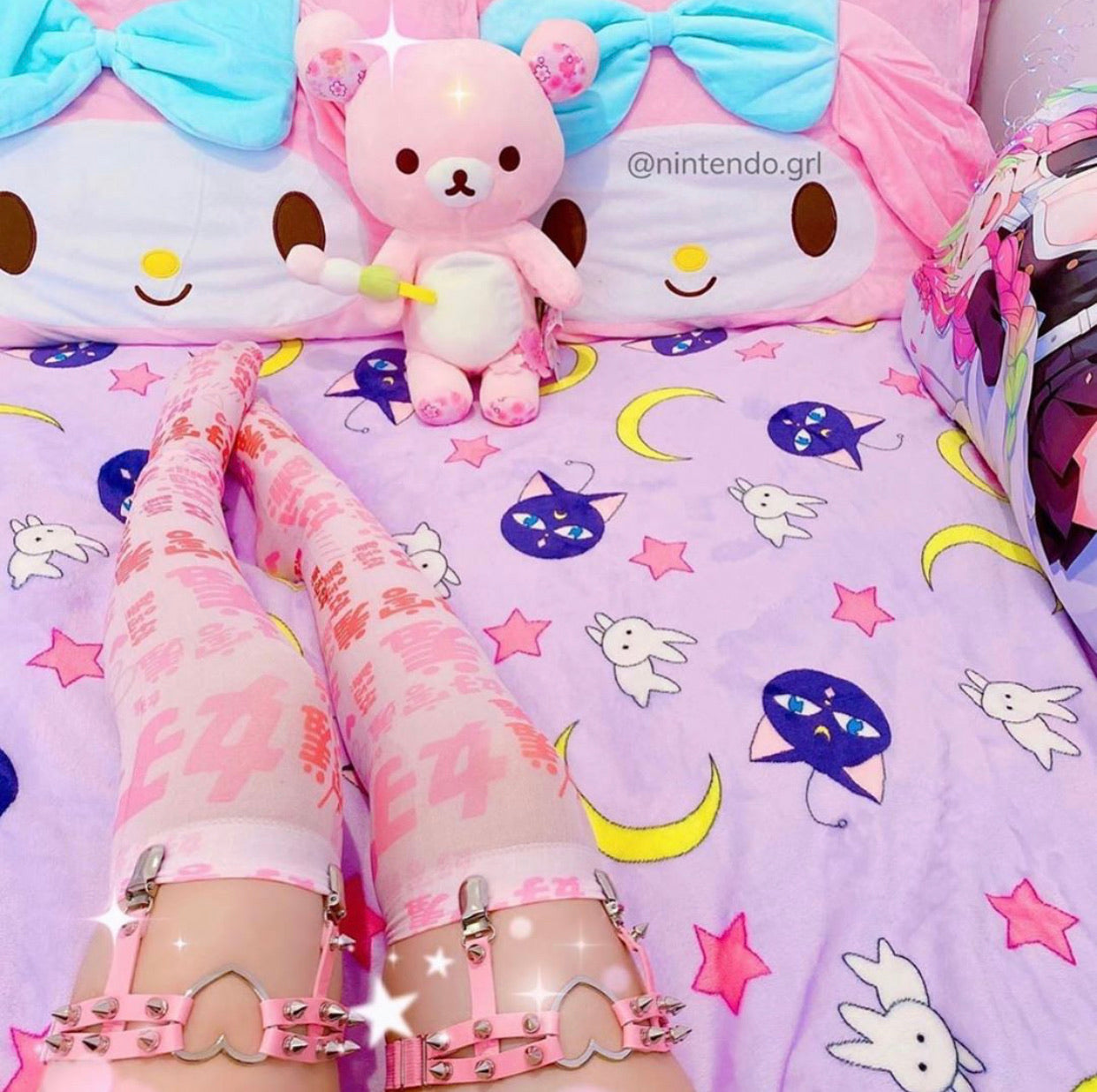 Bunny And Moon Blanket