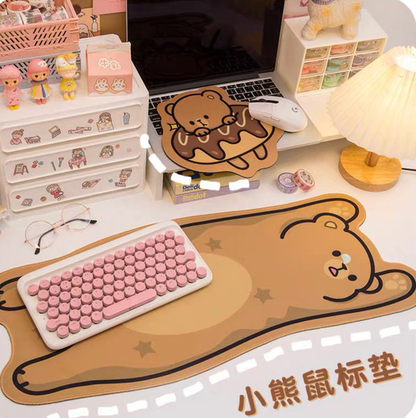 Kawaii Bear Mouse Pad