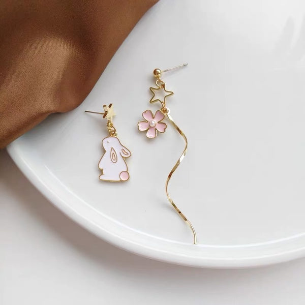 Sakura And Rabbit Earrings