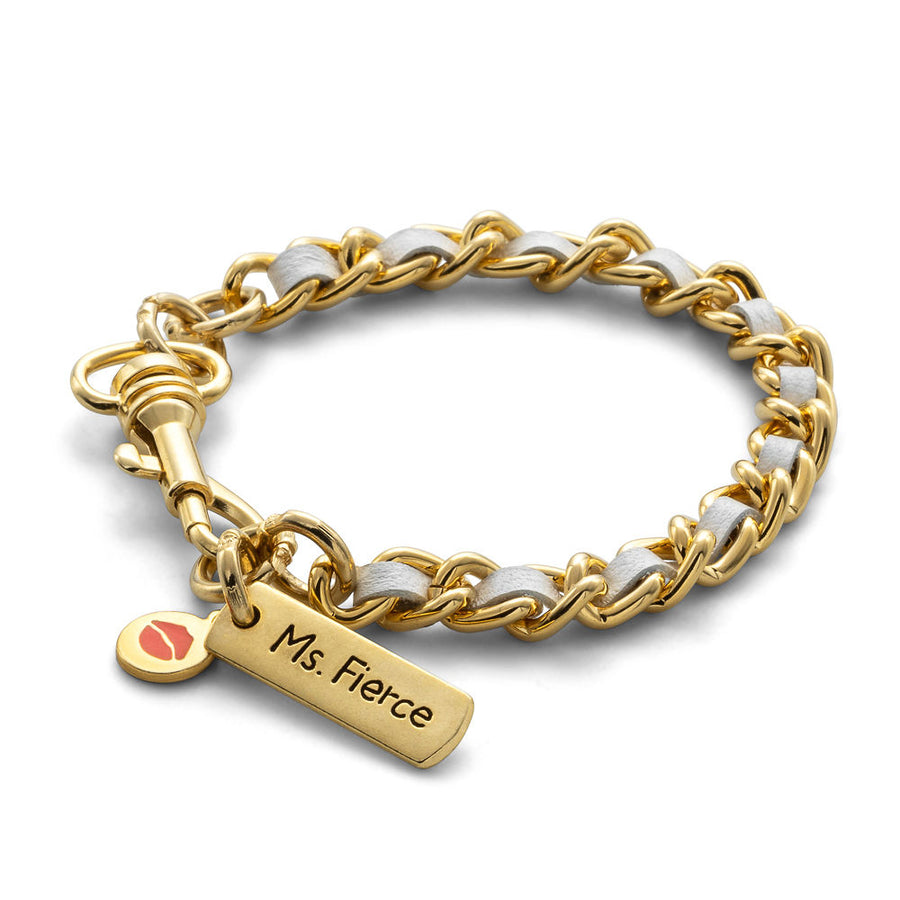 Don't Call Me Angel - Single Stack Gold Bracelet