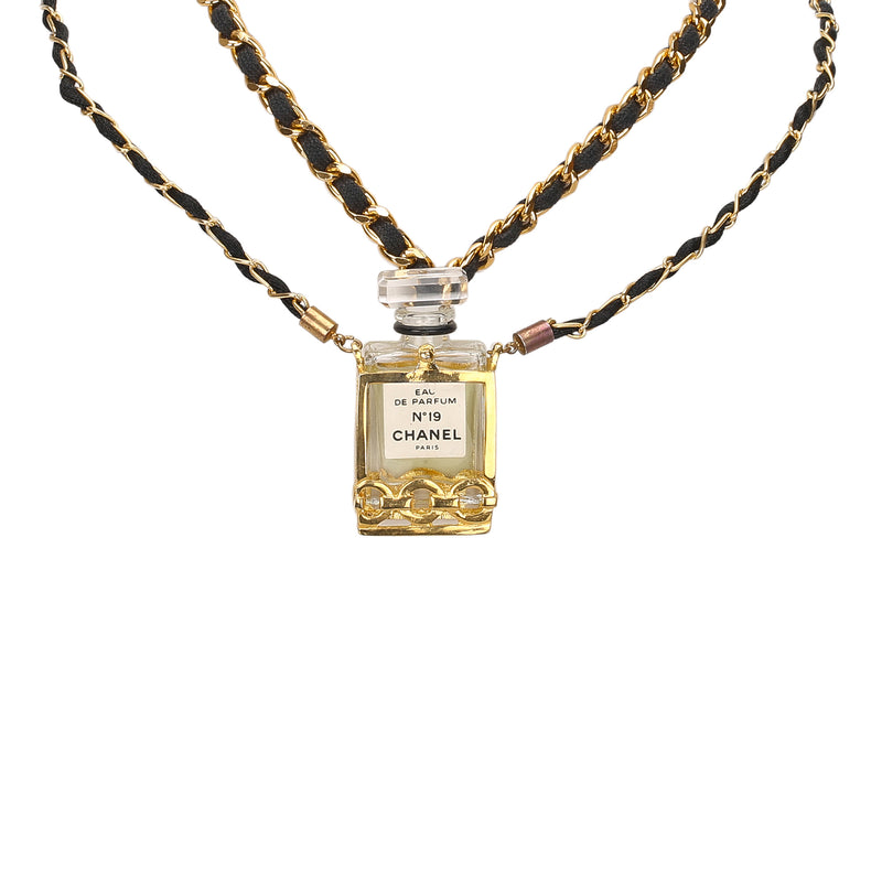 Chanel No.19 Perfume Bottle Necklace GHW