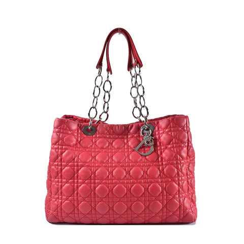 Christian Dior Cannage Quilted Lambskin Dior Soft Shopping Tote 01-BO-1122