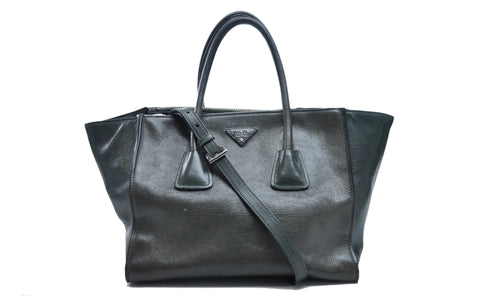 BN2619 Naturale Glace Calf Leather Twin Pocket Double Handle Tote Bag - Glampot