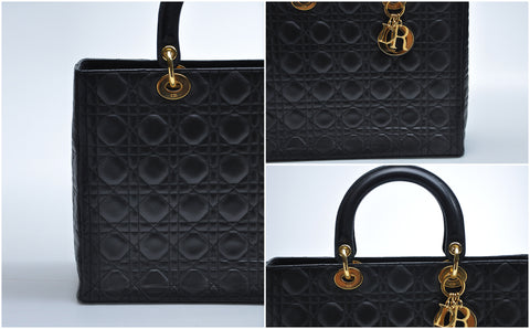 Large Lady Dior in Black