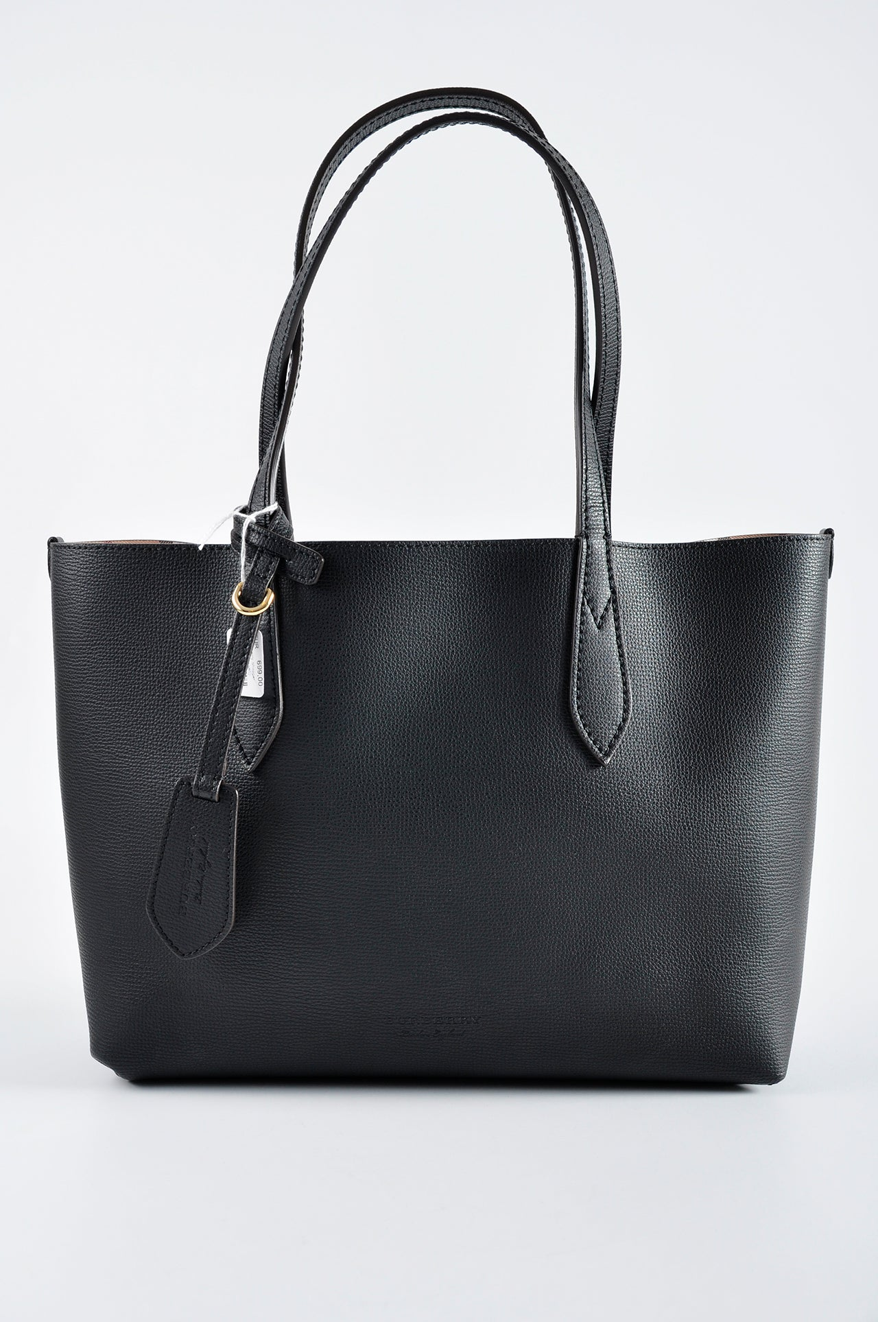 Burberry Medium Reversible Tote in Haymarket Check and Leather - Glampot