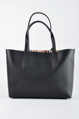 Burberry Medium Reversible Tote in Haymarket Check and Leather