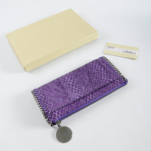 Stella McCartney Purple Faux Lizard Fallabella Wallet
