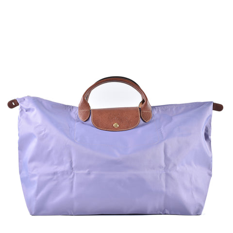 Longchamp Le Pliage Type L Lilac Short Handle
