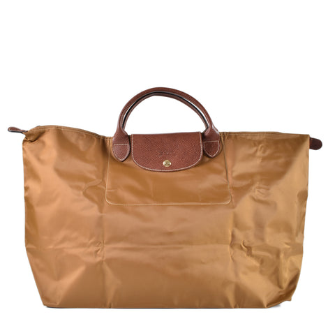 Longchamp Le Pliage Type L Brown Short Handle