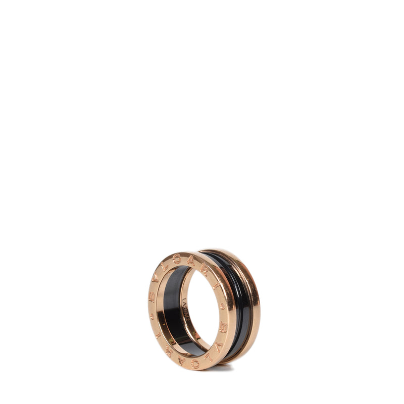 Bvlgari B.Zero1 Two-band Ring with Gold Loops & Black Ceramic Spiral
