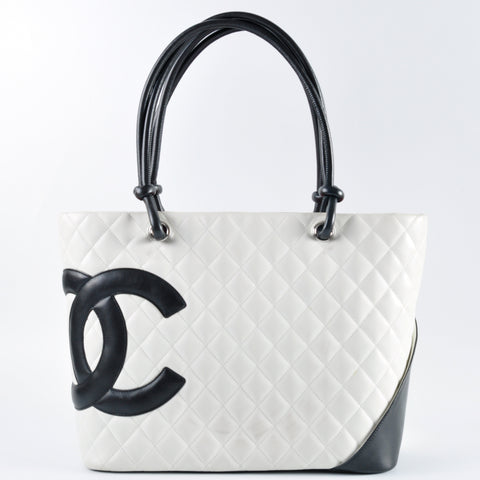b2d850826b Chanel White Quilted Ligne Cambon Large Tote Bag 9868698 - Glampot