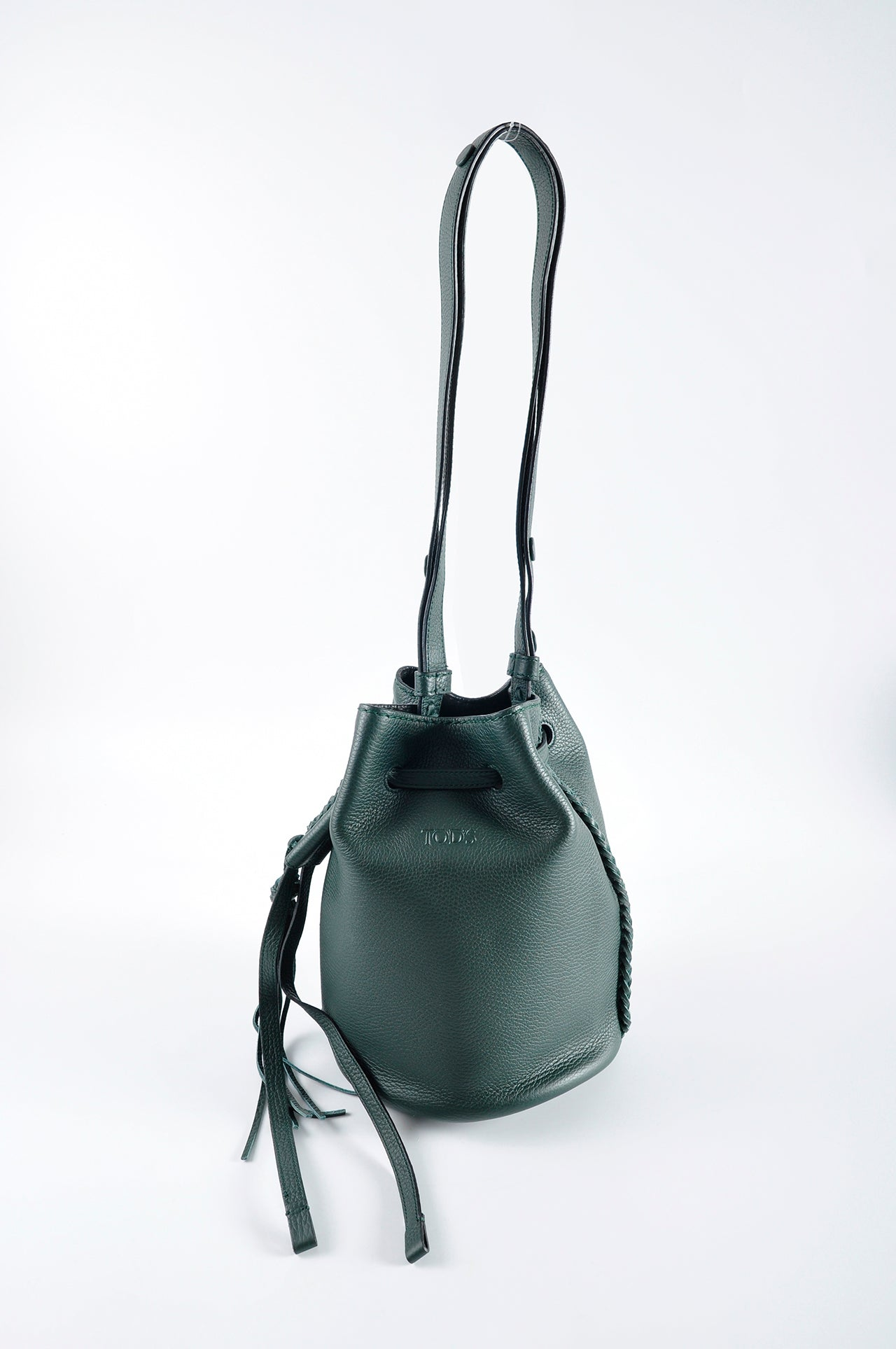 df8ef44f469 Tod's Piccolo Secchiello Gipsy Bucket Tote in Green – Glampot