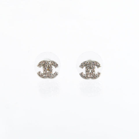 Chanel A26210 Small Crystal CC Logo Earrings - Glampot