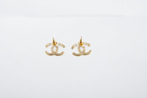 Chanel A4308 7CC Logo Boucles Oreille Earrings - Glampot