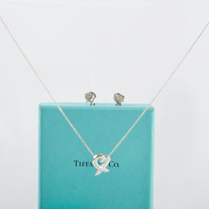 Tiffany & Co. Paloma Picasso Loving Necklace & Earrings Set