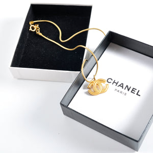 Chanel Gold CC Necklace - Glampot