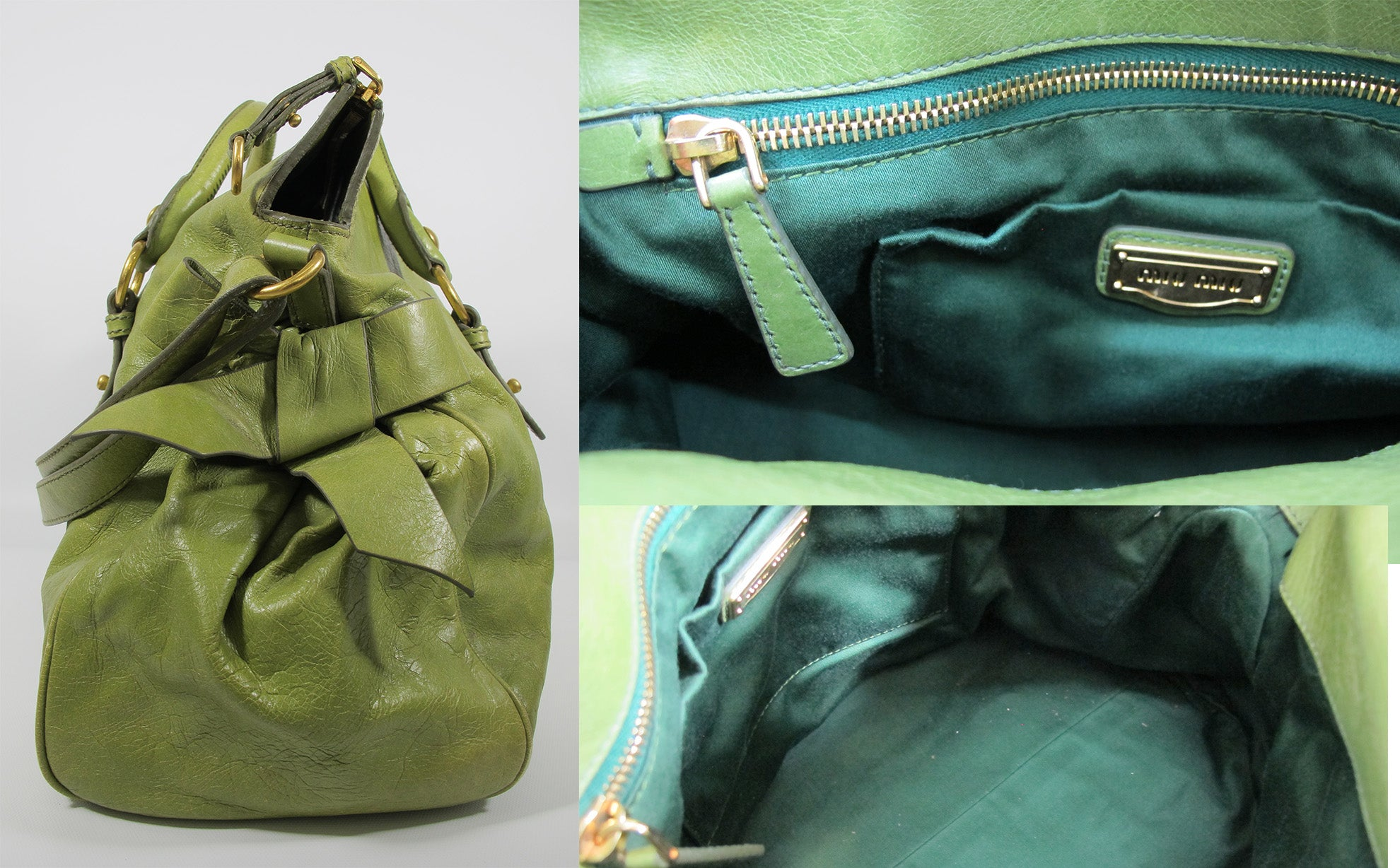 Miu Miu Limited Edition Green Bow Bag