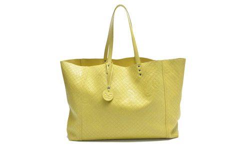 Bottega Veneta Tote in Yellow - Glampot